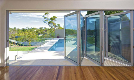 Aluminium bifold doors for outdoor spaces