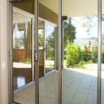 Glass doors for commercial establishment