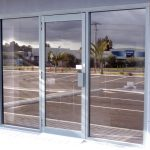 Reflective glass doors installation