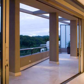 Indoor view of balcony